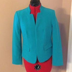 Loft greenish suit jacket. 4petite. New with tags